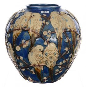 """10"""" X 10"""" Art Pottery Vase Attributed To Muncie Pottery"""