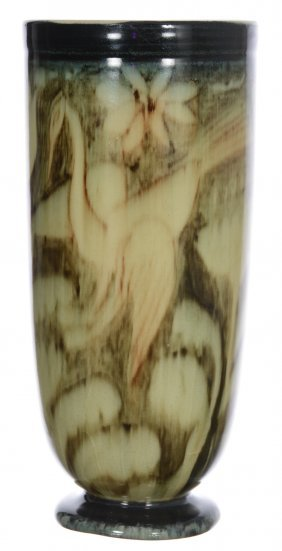 "9 1/2"" Marked Rookwood Art Pottery Vase - Cream And"