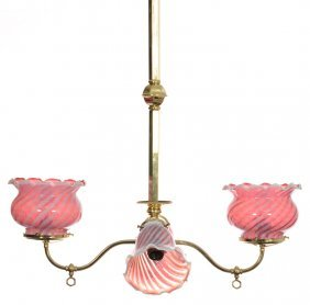 "30"" X 24"" Brass Four-light Gas Light Fixture That Has"