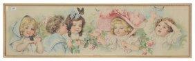 "10 1/2"" X 36 1/2"" Vintage Maud Humphrey Print Titled"