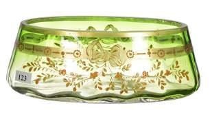 3 12 X 9 SIGNED MOSER CARLSBAD ART GLASS VASE
