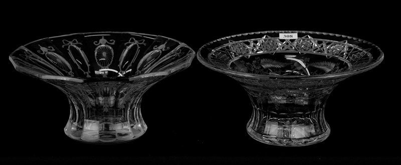 """(2) FLARED SIGNED HAWKES 9 3/4"""" BOWLS INCLUDING:"""