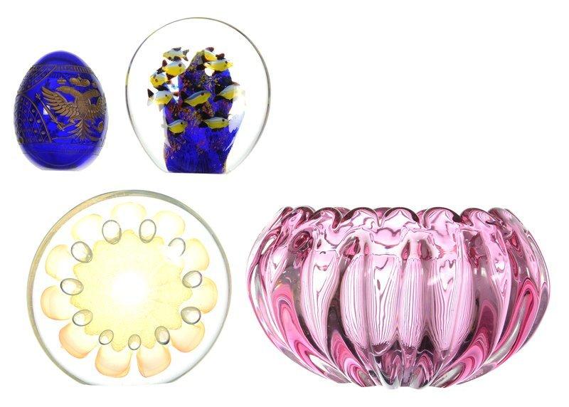 (4) CONTEMPORARY ART GLASS ITEMS