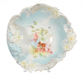 """11"""" Unmarked R.s.prussia Hand Grip Bowl"""