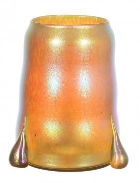 "Rare! 6 3/4"" X 5 1/2"" Unmarked Loetz Art Glass Candia"