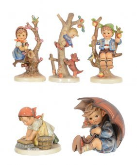 (5) Hummel Figurines Including
