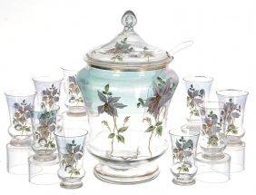 Victorian Art Glass Punch Set