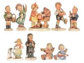 (9) Hummel Figurines Including
