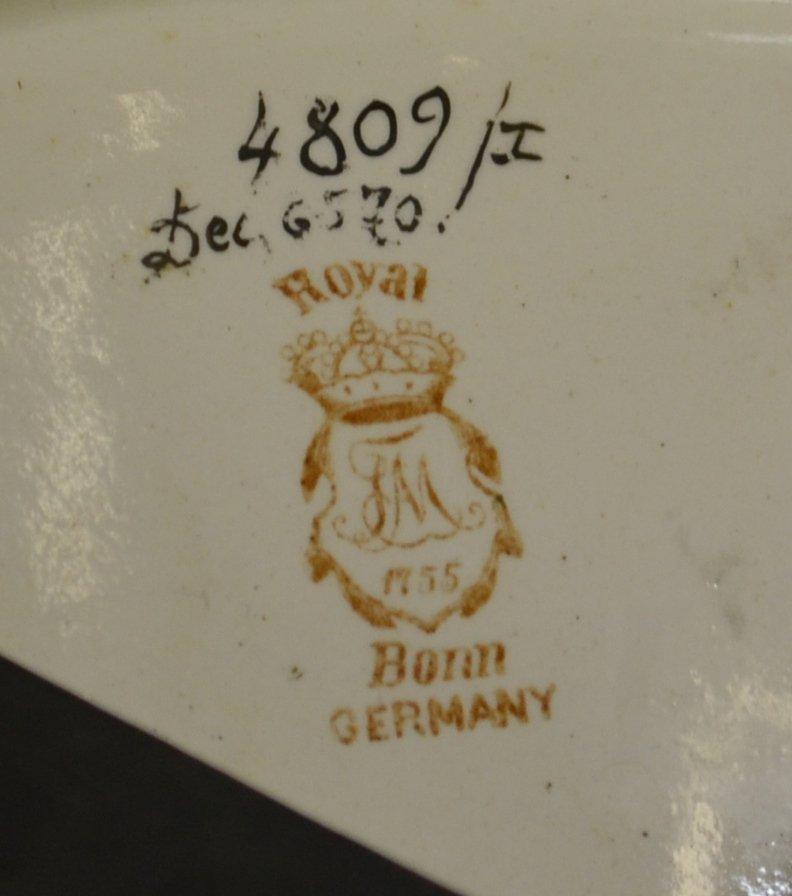 "FABULOUS 50"" MARKED ROYAL BONN #4809/1 THREE-PART - 10"