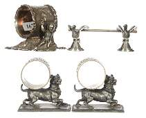 (4) FIGURAL SILVERPLATE ITEMS INCLUDING