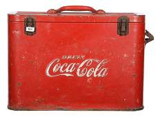 13 X 18 ORIGINAL COCACOLA COOLER SHAPED LIKE LUNCH