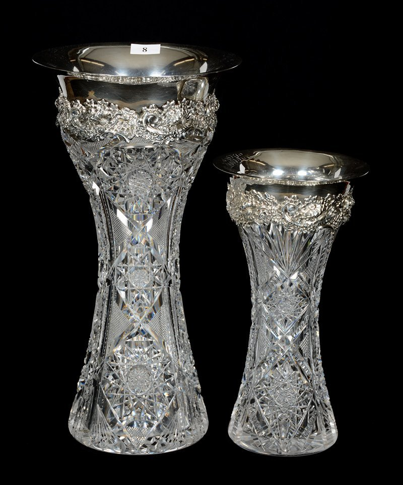 (2) VASES - CORSET SHAPED FEATURING IDENTICAL MAUSER