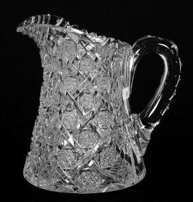 "WATER PITCHER - 7.5"" ABCG TRELLIS PATTERN BY EGGINTON"