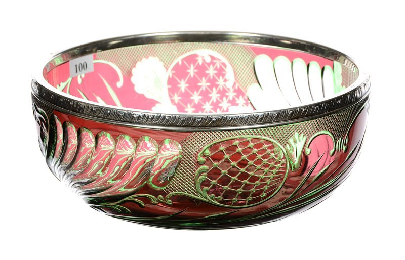 """EXTREMELY RARE BOWL - 3.5"""" X 8.75"""" - SIGNED BACCARAT"""