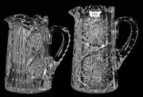 (2) WATER PITCHERS - ABCG