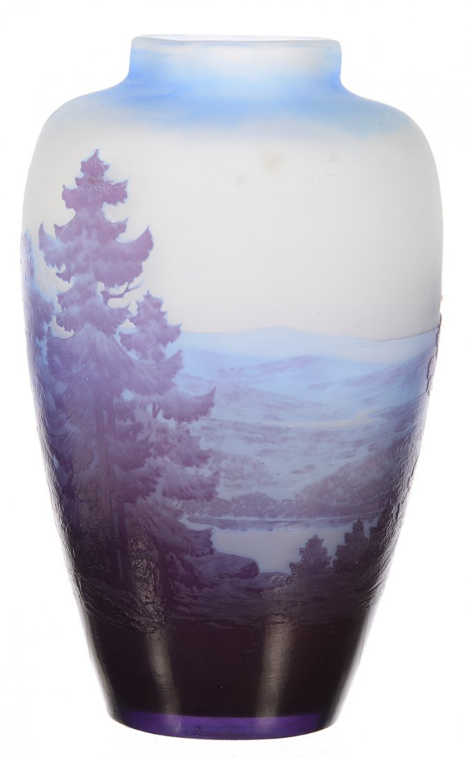 """8"""" X 4.25"""" SIGNED GALLE FRENCH CAMEO ART GLASS VASE"""