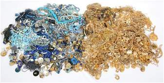 (2) LARGE GROUPS OF COSTUME JEWELRY