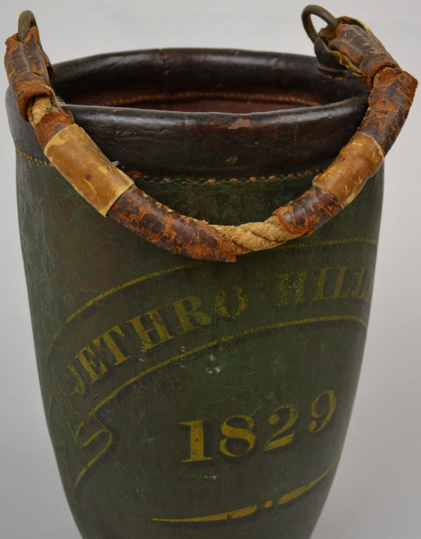 "VINTAGE 13"" ALL LEATHER FIREMAN'S BUCKET - 3"