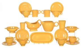 (21) FIESTA WARE YELLOW POTTERY ITEMS - INCLUDING