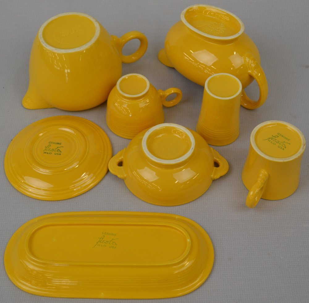 (21) FIESTA WARE YELLOW POTTERY ITEMS - INCLUDING - 2