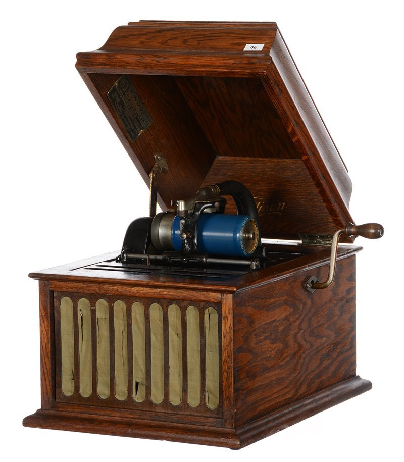 "12.5"" X 16"" X 12.5"" EDISON MODEL 30 CYLINDER PHONOGRAPH"