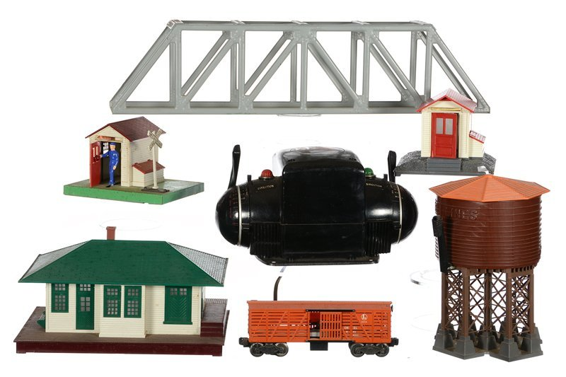 (8) ORIGINAL LIONAL TRAIN PARTS AND ACCESSORIES ON