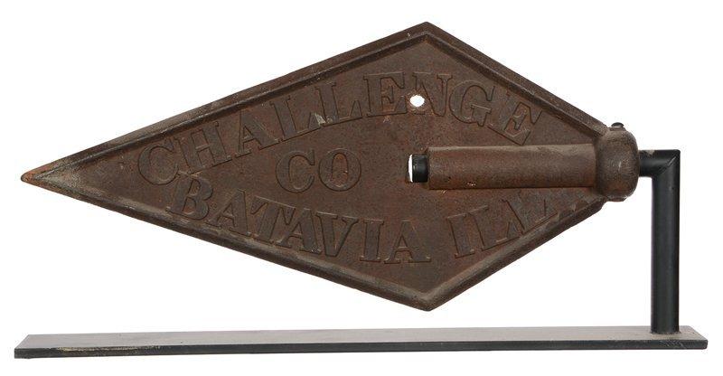 "14"" X 30"" ORIGINAL 19TH CENTURY CAST IRON DIAMOND"