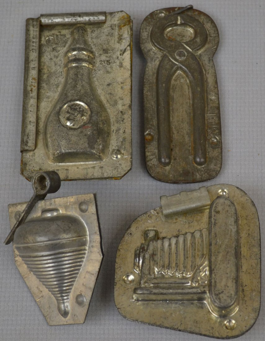 (8) VINTAGE CHOCOLATE MOLDS INCLUDING - 2