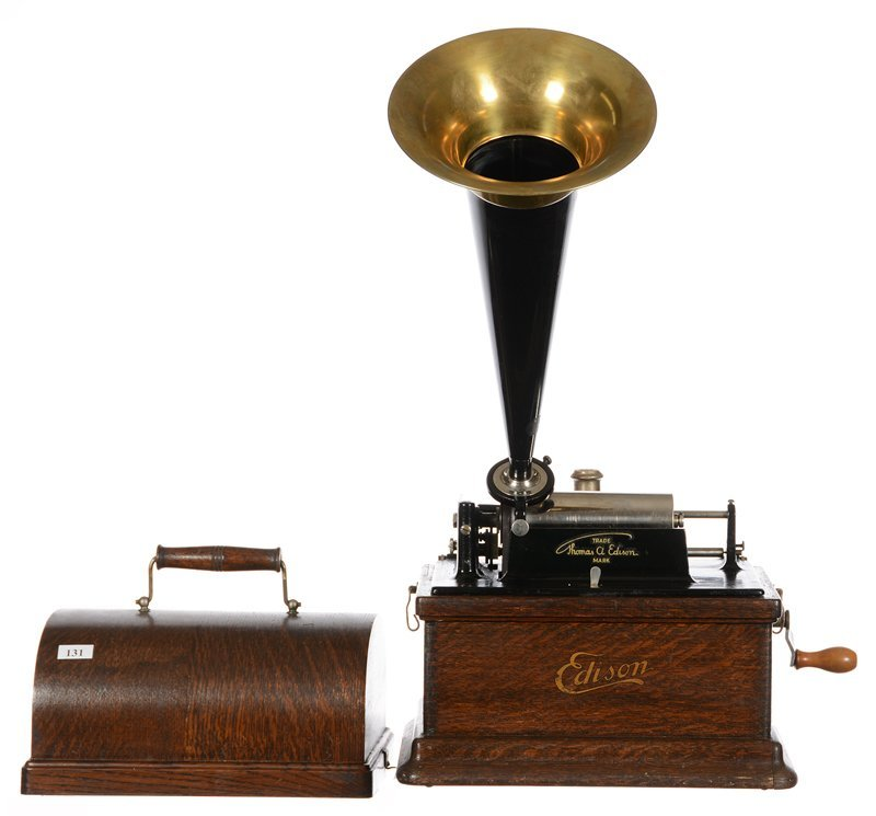 "12"" X 11"" EDISON FIRE SIDE MODEL A CYLINDER PHONOGRAPH"