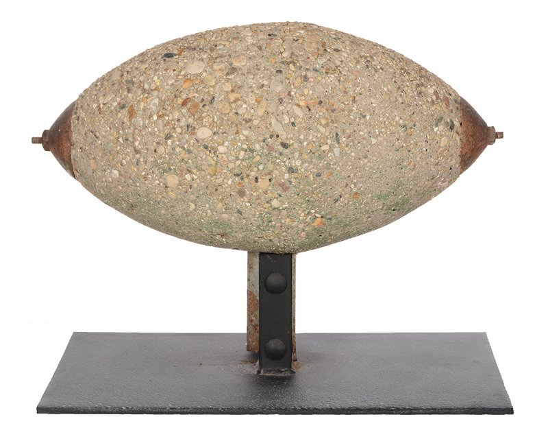 "13"" X 17"" ORIGINAL 19TH CENTURY CONCRETE ""FOOTBALL"""