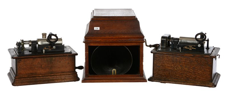 (3) EDISON CYLINDER PHONOGRAPHS - SELLING AS PARTS ONLY