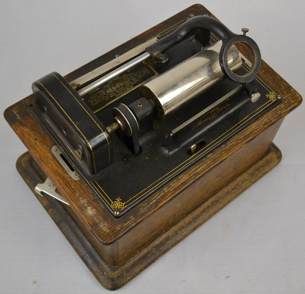 (3) EDISON CYLINDER PHONOGRAPHS - SELLING AS PARTS ONLY - 2