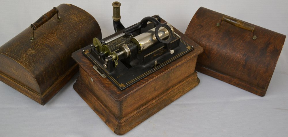 (3) EDISON CYLINDER PHONOGRAPHS - SELLING AS PARTS ONLY - 4