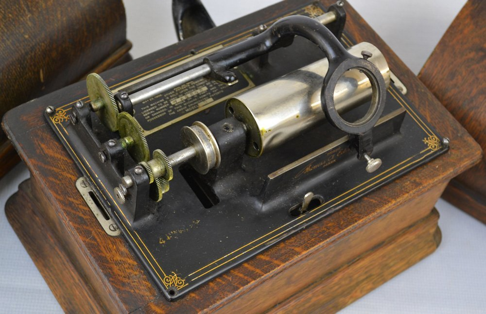 (3) EDISON CYLINDER PHONOGRAPHS - SELLING AS PARTS ONLY - 5