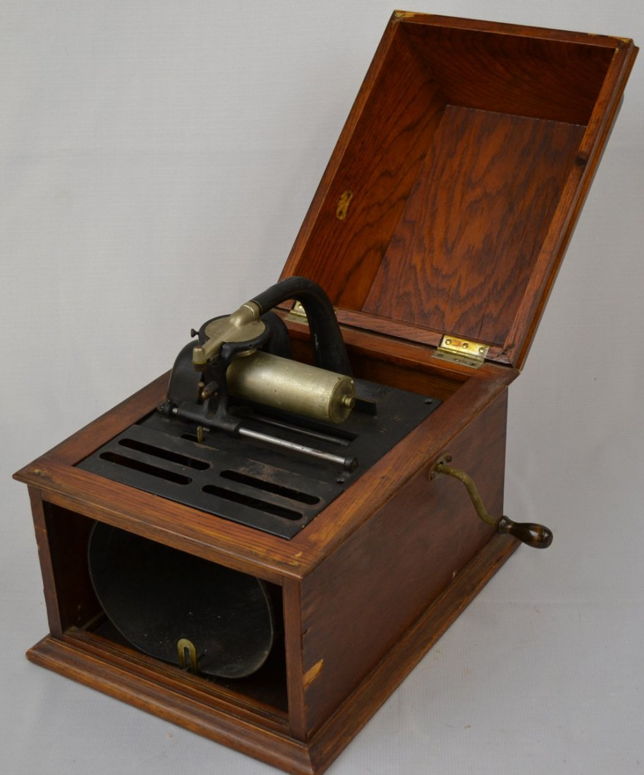 (3) EDISON CYLINDER PHONOGRAPHS - SELLING AS PARTS ONLY - 7