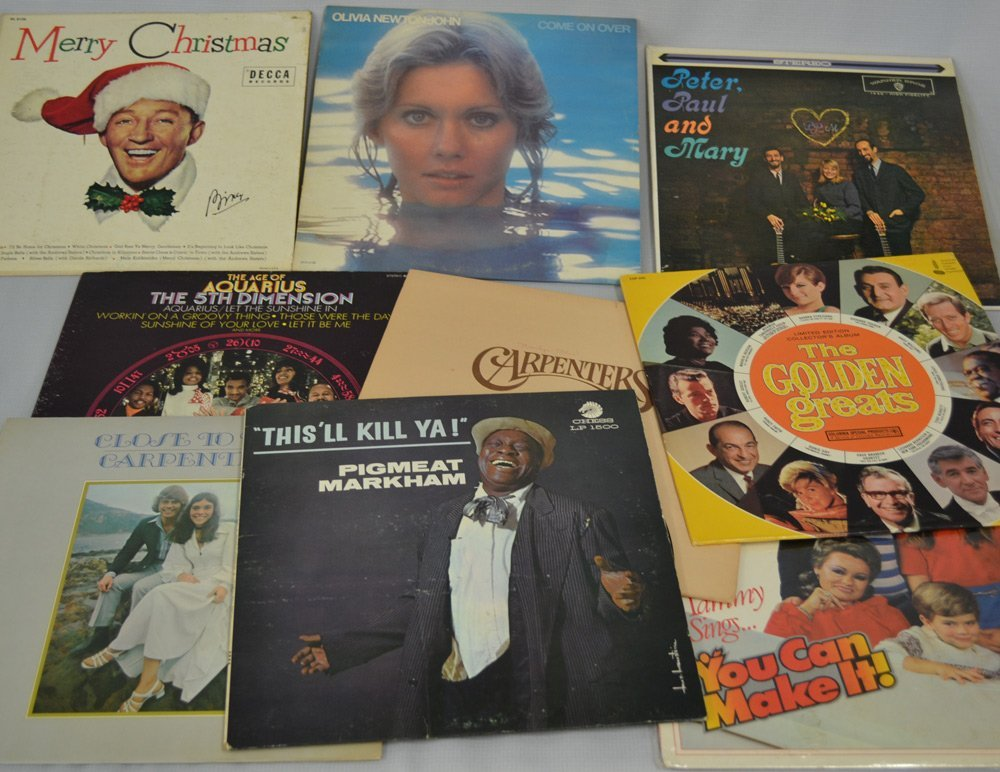 LARGE ASSORTMENT OF RECORDS INCLUDING - 10