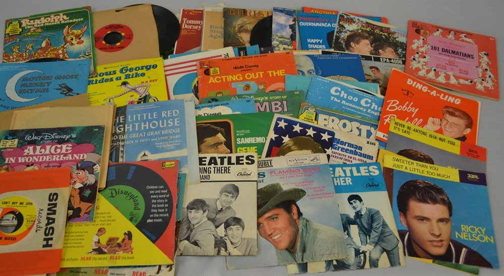 LARGE ASSORTMENT OF RECORDS INCLUDING - 2