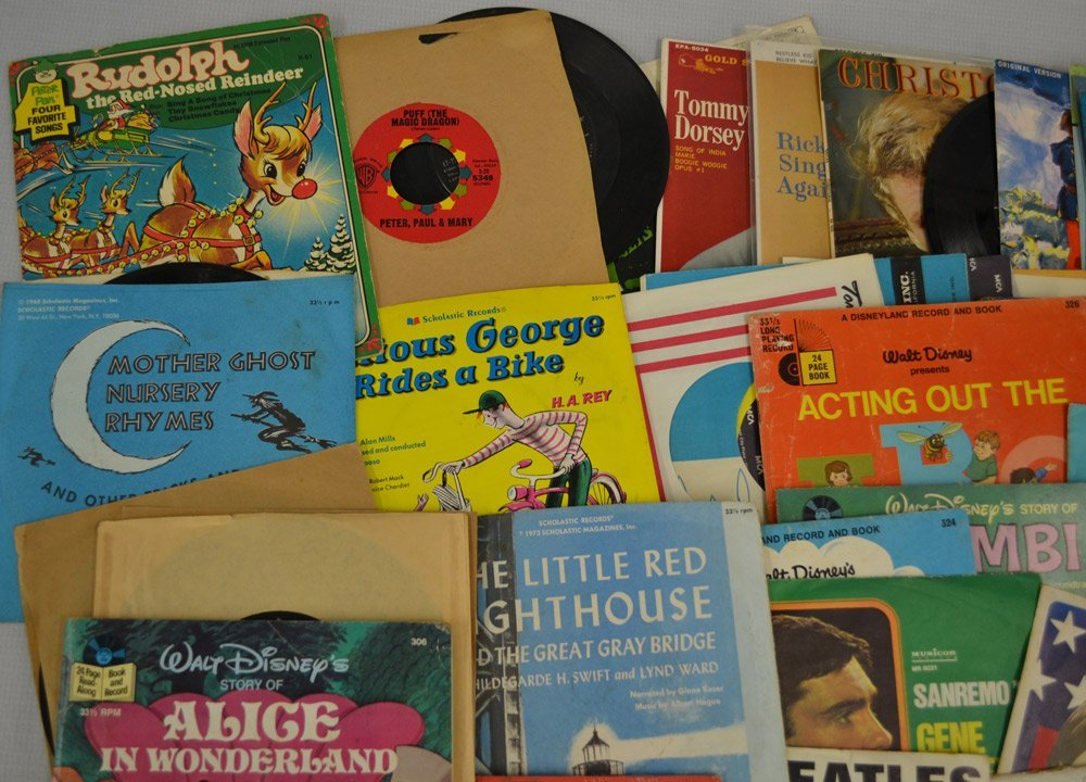 LARGE ASSORTMENT OF RECORDS INCLUDING - 3