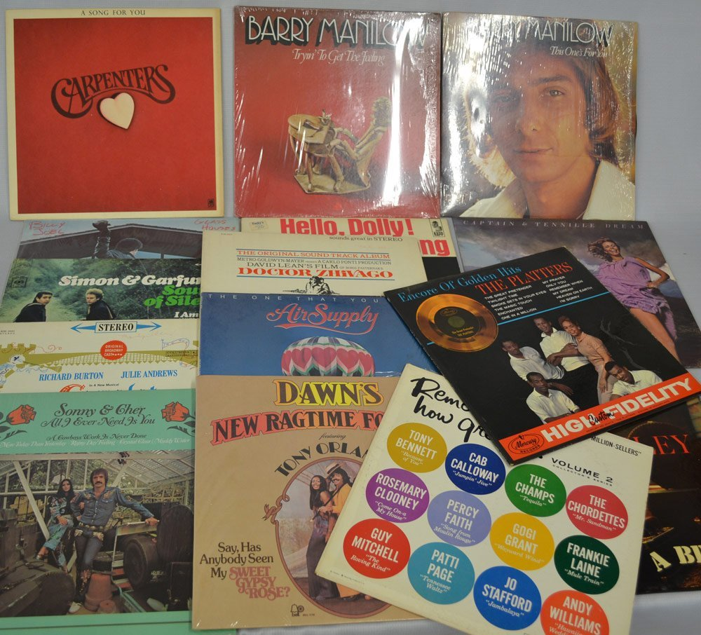 LARGE ASSORTMENT OF RECORDS INCLUDING - 9