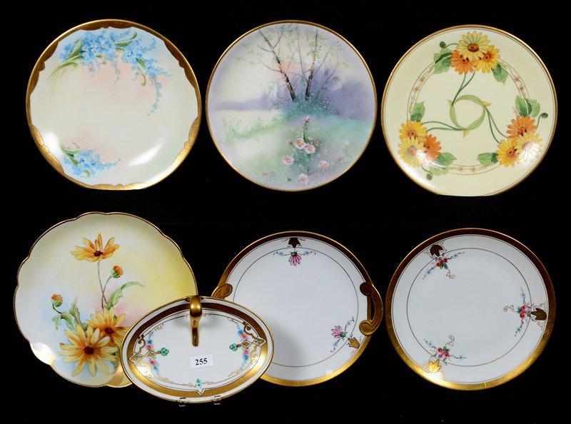 (7) MARKED PICKARD HANDPAINTED FLORAL PLATES