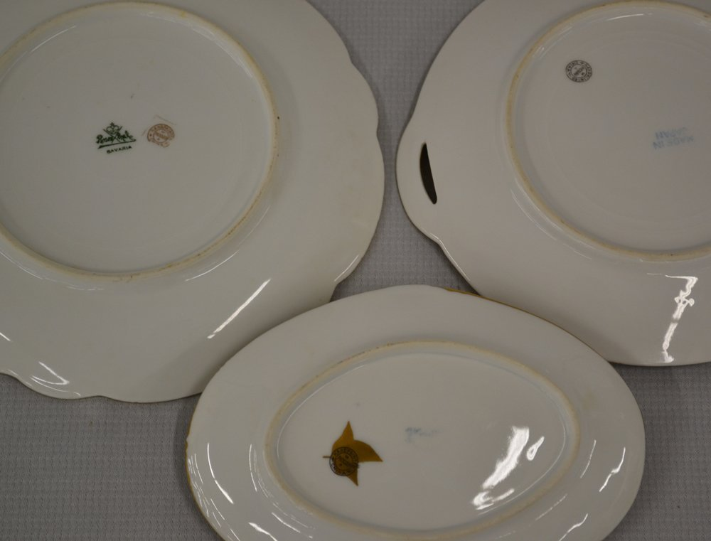 (7) MARKED PICKARD HANDPAINTED FLORAL PLATES - 2
