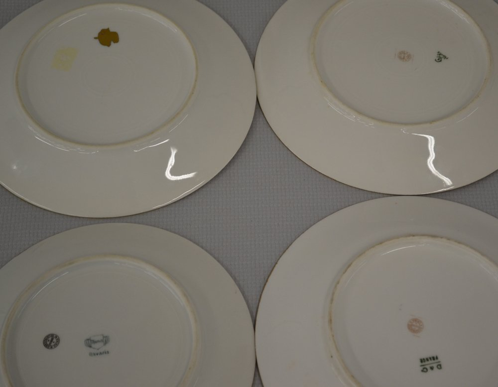 (7) MARKED PICKARD HANDPAINTED FLORAL PLATES - 3