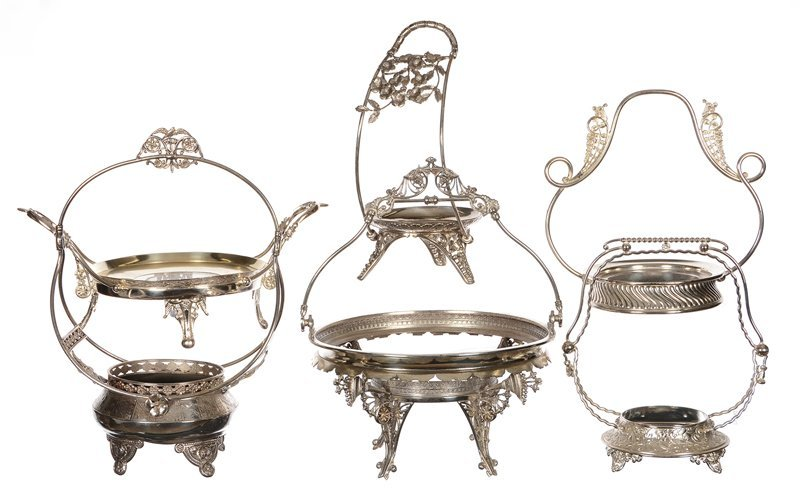 (6) SILVERPLATE FRAMES FOR BRIDES BOWLS