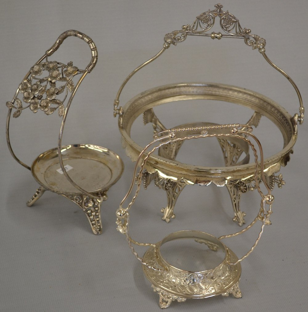 (6) SILVERPLATE FRAMES FOR BRIDES BOWLS - 2