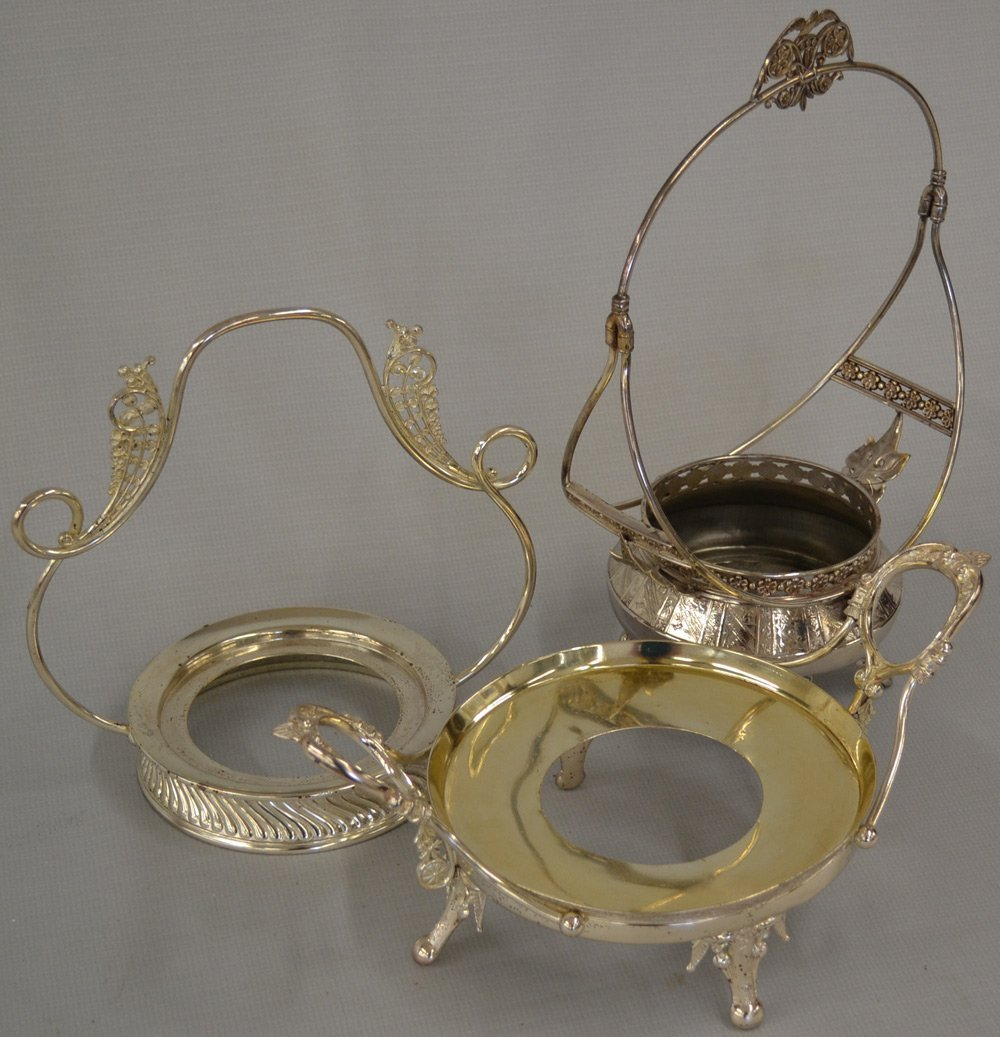 (6) SILVERPLATE FRAMES FOR BRIDES BOWLS - 3