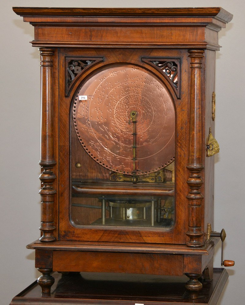 "34"" X 24"" X 13"" UPRIGHT POLYPHON COIN-OPERATED MUSIC"