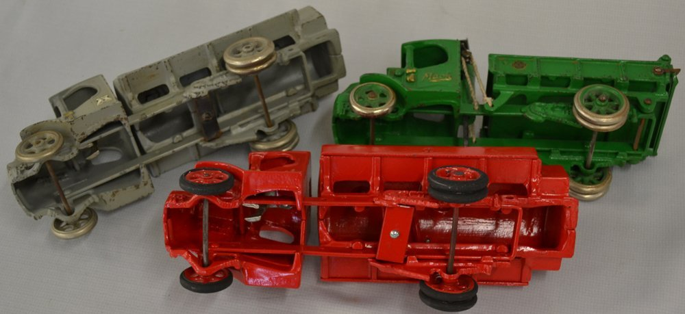 (3) TOY CAST IRON TRUCKS BY ARCADE - 2
