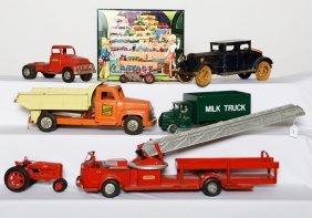 (6) ASSORTED VINTAGE TOY VEHICLES
