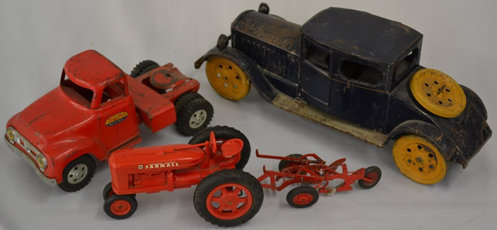 (6) ASSORTED VINTAGE TOY VEHICLES - 3