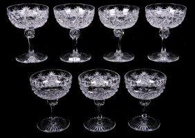"(7) CHAMPAGNE GLASSES - 5.62"" - ABCG"